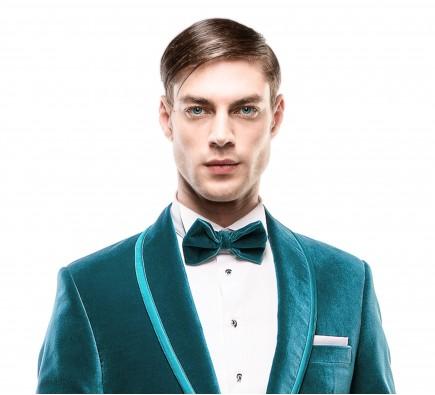 Papion Filip Cezar Aquamarine Velvet