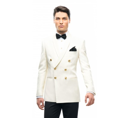 Filip Cezar Double Ivory Jacket
