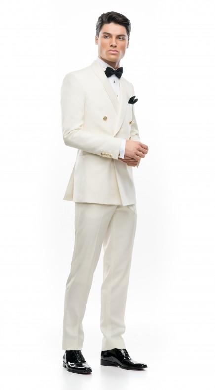 Costum de mire la comanda Filip Cezar Double Ivory