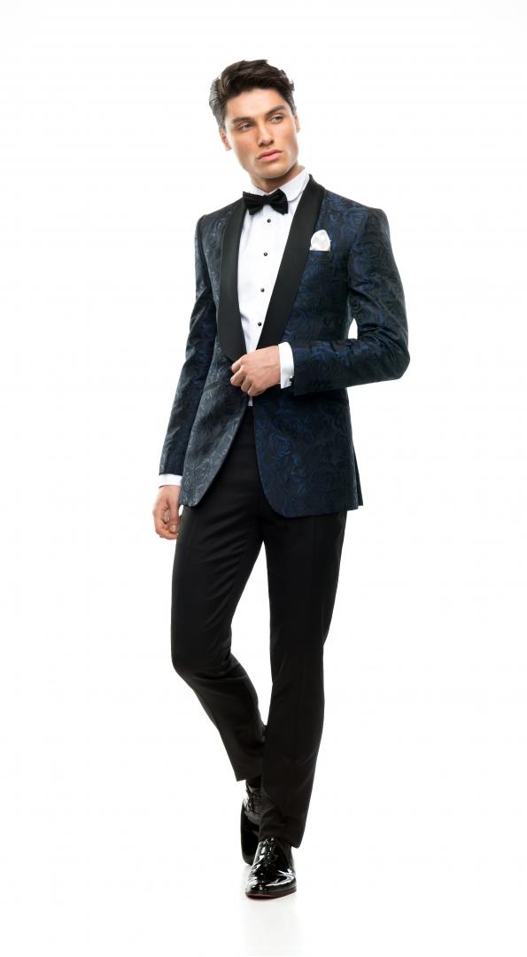 Filip Cezar Blue Roses Suit