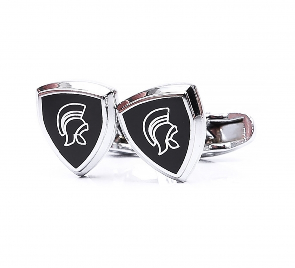 Filip Cezar Black & Silver Cufflinks