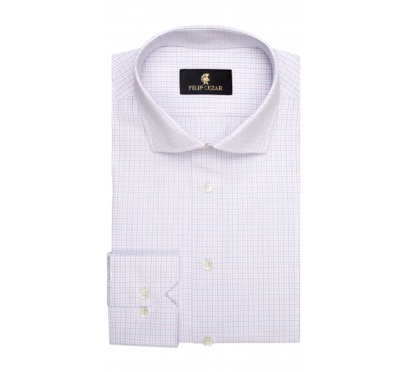 Filip Cezar White & Pink Squares Shirt