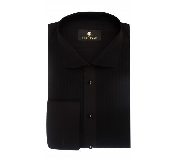 Filip Cezar Solid Black Shirt