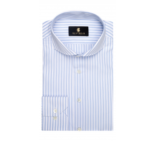 Filip Cezar Luxury Blue Shirt