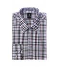 Filip Cezar Brown Squares Shirt