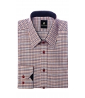 Camasa Filip Cezar Orange Squares