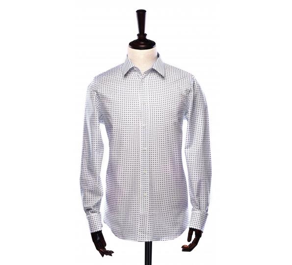 Filip Cezar White Blocks Shirt