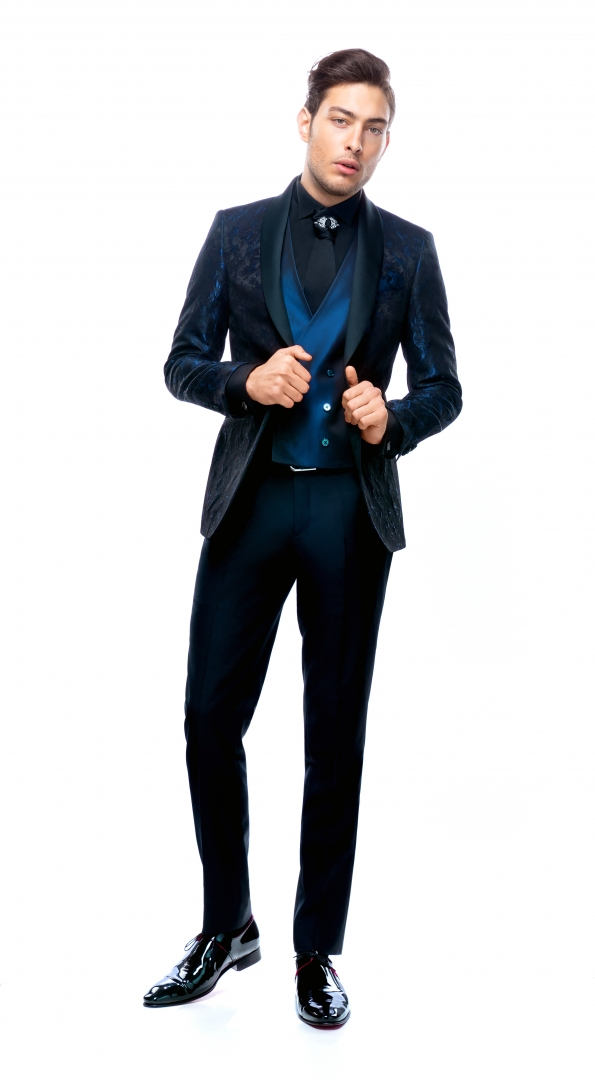 Costum Filip Cezar Midnight Blue