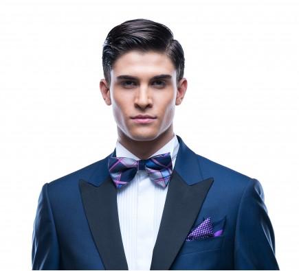 Cezar Blue Bow Tie