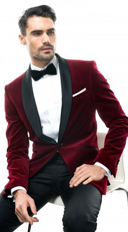 Sacou Filip Cezar Red Velvet