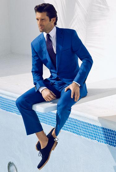 Costum de ocazie Filip Cezar Summer Blue