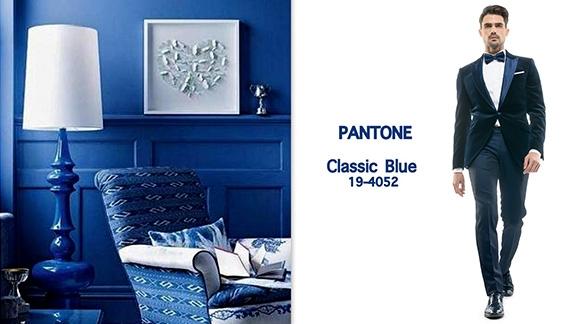 Classic blue, culoarea anului 2015 in materie de tuxedo