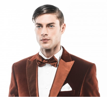 Filip Cezar Brown Silk Bow Tie