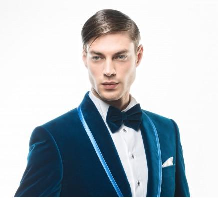 Filip Cezar Aquamarine Bow Tie