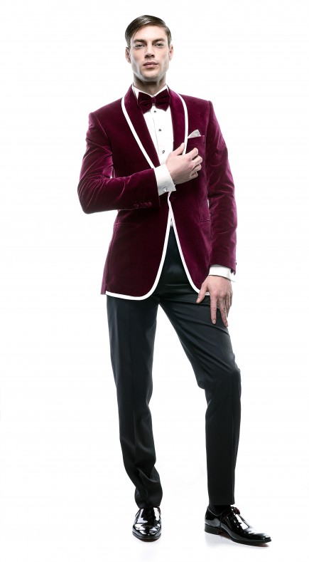 Filip Cezar Magenta New Suit