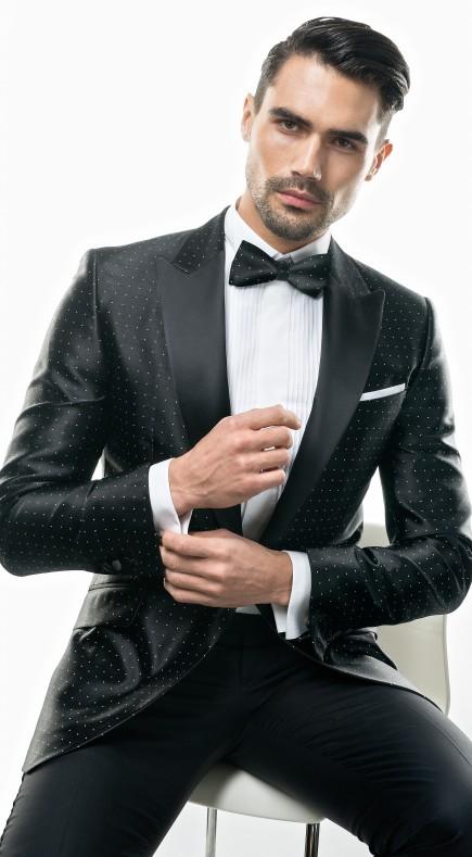 Filip Cezar Silk Dots Jacket