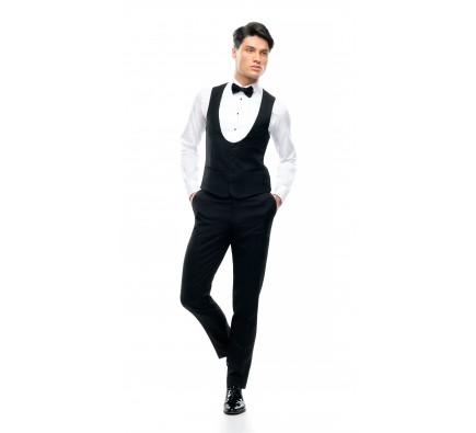 Filip Cezar Black Waistcoat