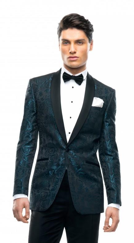 Filip Cezar Aqua Roses Jacket