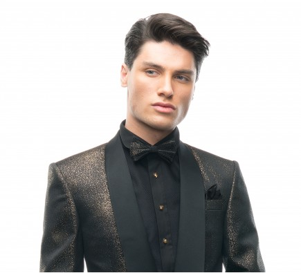 Filip Cezar Golden Star Bow Tie