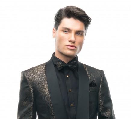 Filip Cezar Golden Star Bow Tie