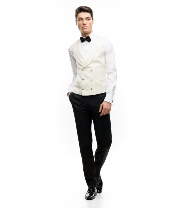 Filip Cezar Double Ivory Waistcoat