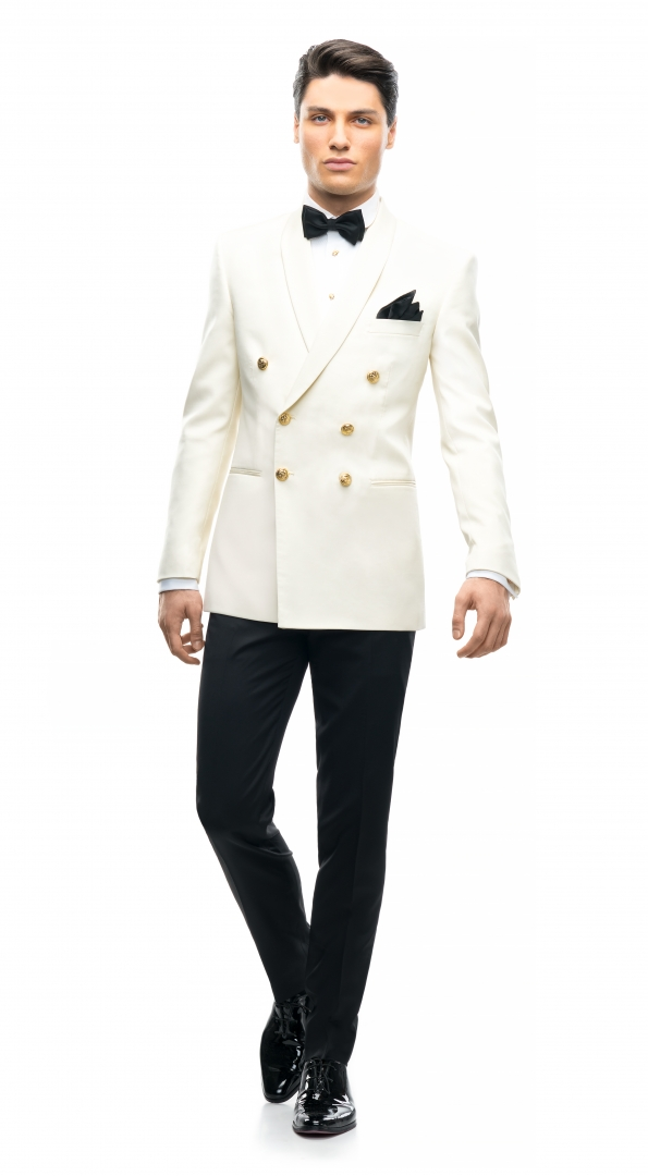 Filip Cezar Double Ivory Suit
