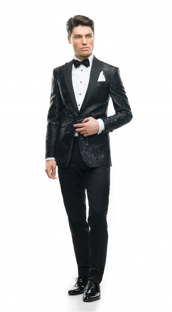 Filip Cezar Fancy Black Suit