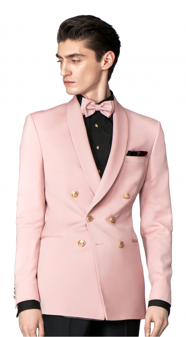 Sacou Filip Cezar Double Pink