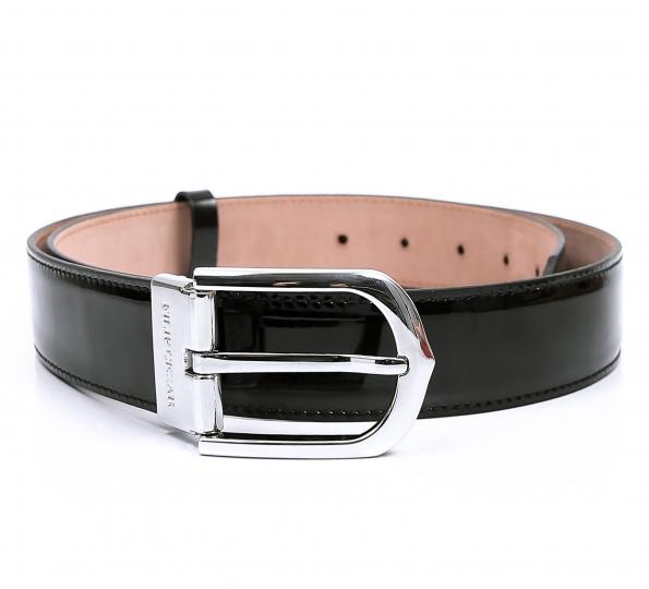Leather belt Filip Cezar Silver