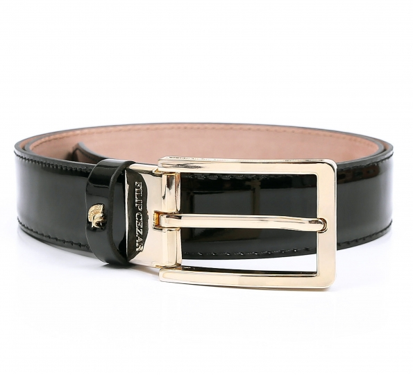 Leather Belt Filip Cezar Gold