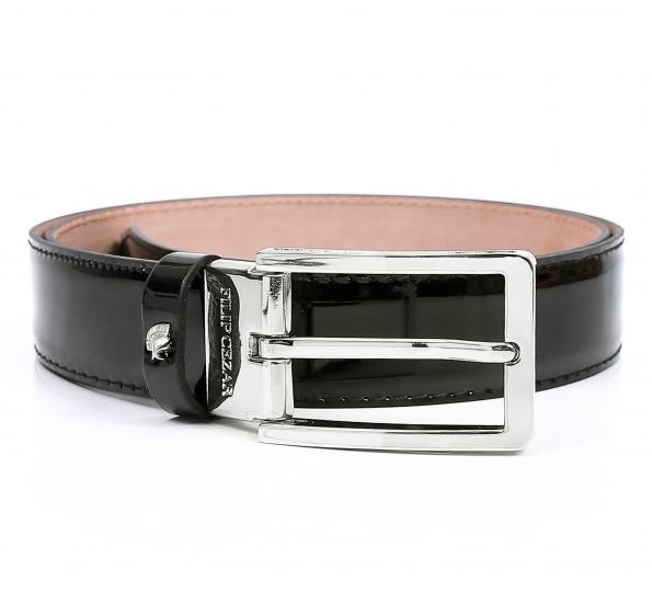 Leather belt Filip Cezar Platinum
