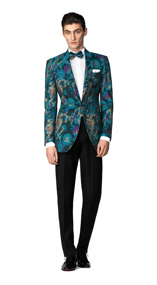 Filip Cezar Fancy Green Suit