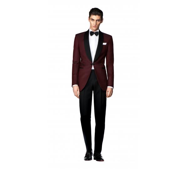 Filip Cezar Burgundy Suit