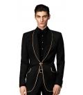 Sacou Filip Cezar Luxury Black