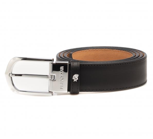 Leather Belt Filip Cezar Dark Brown