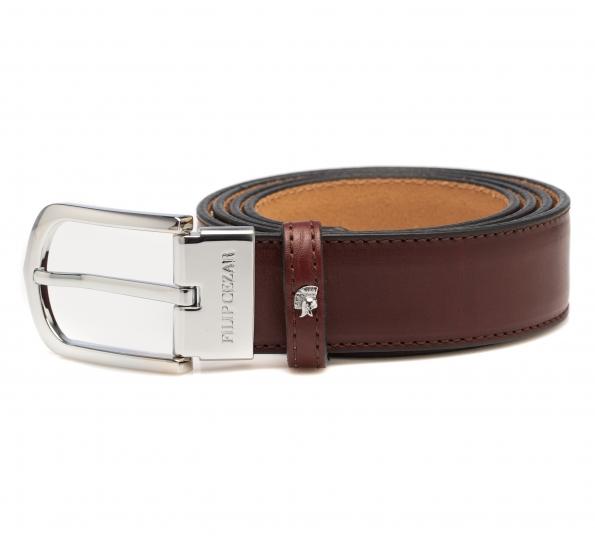 Leather Belt Filip Cezar Reddish Brown