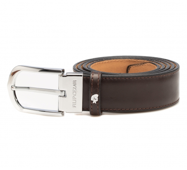 Leather Belt Filip Cezar Classic Brown