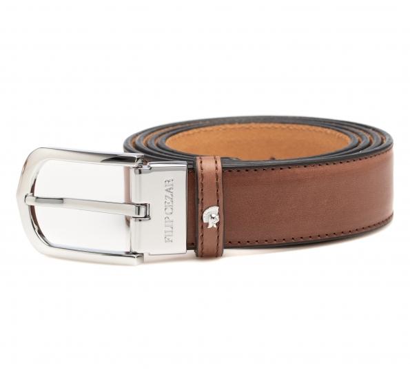 Leather Belt Filip Cezar Luxury Brown
