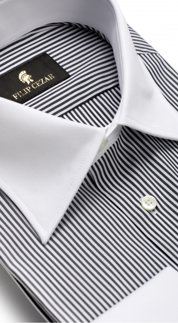 Filip Cezar Gray Lines Shirt