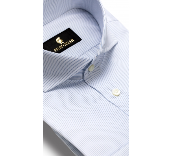 Filip Cezar Blue Interlaced Shirt