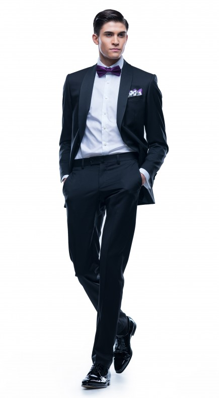 Cezar Dark Stripe Suit