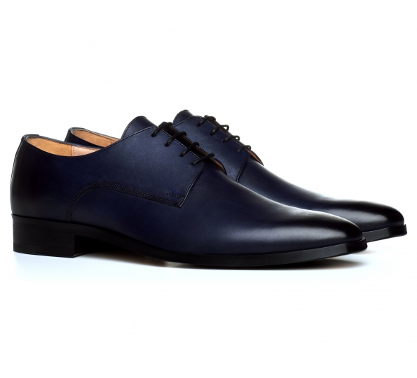 Filip Cezar Derby Blue Shoes