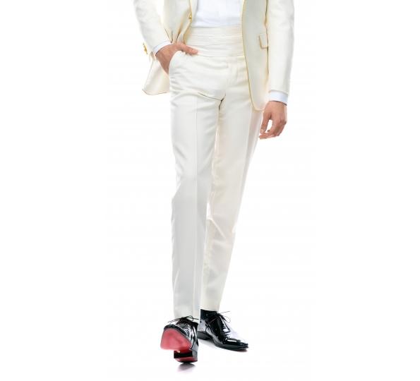 Pantaloni Filip Cezar Ivory