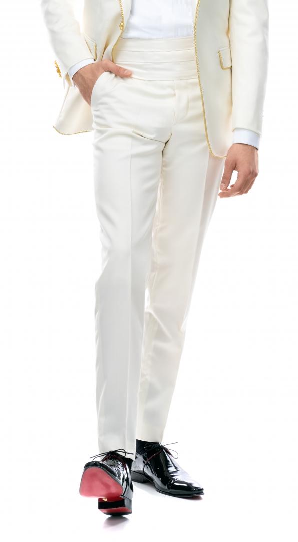 Filip Cezar Ivory Pants