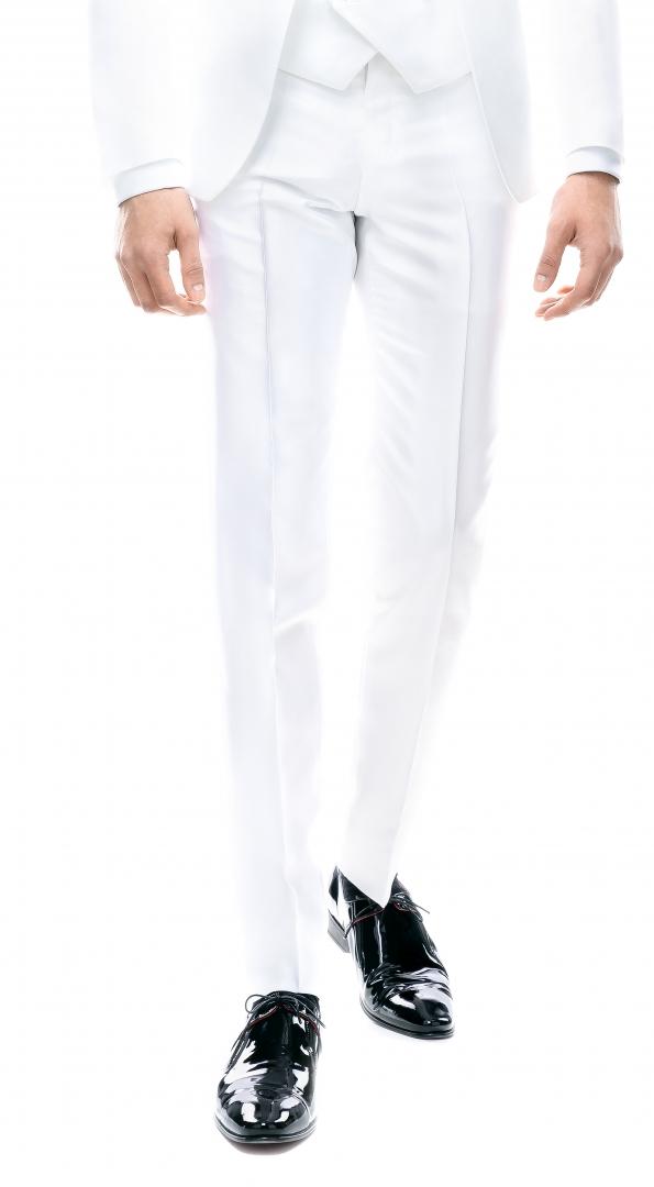Pantaloni Filip Cezar White