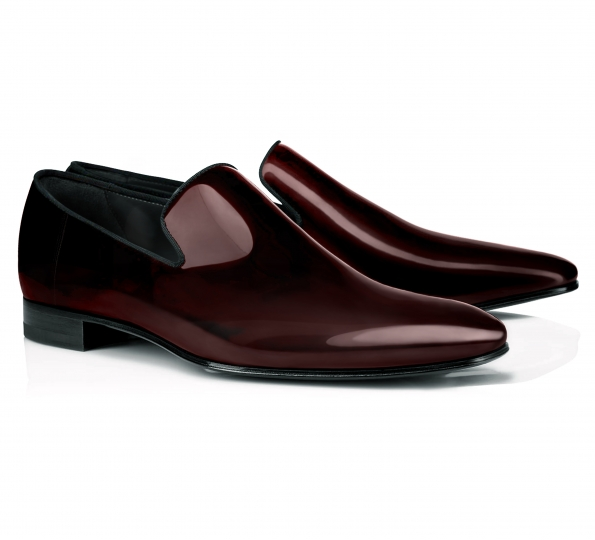 Pantofi Filip Cezar Patent Red Loafers