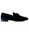 Pantofi la comanda Filip Cezar Luxury Velvet Blue