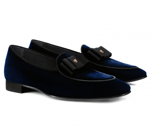 Pantofi Filip Cezar Luxury Blue Velvet