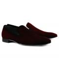 Pantofi Filip Cezar Velvet Touch Red
