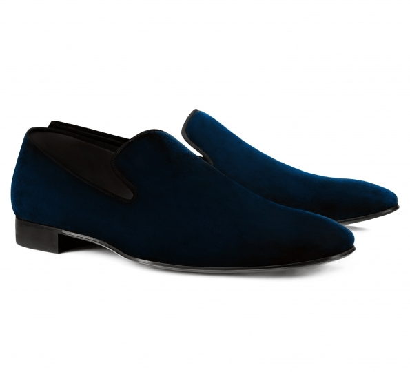 Filip Cezar Velvet Touch Blue Shoes